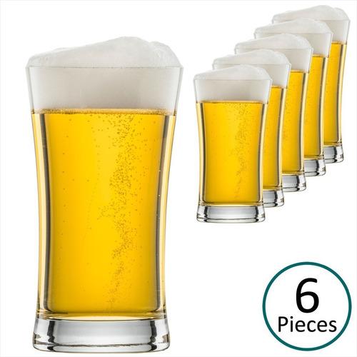 Imagem 1 de 8 de Copo De Cerveja Chopp Cristal 6un Beer 307ml Schott Zwiesel