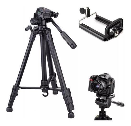 Imagem 1 de 4 de Tripé Profissional Preto Universal 1,80m Sony Cannon Nikon