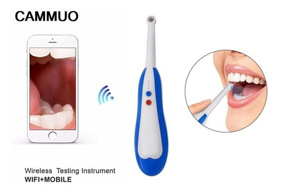 Camera Intra Oral Odontologica Sem Fio Wifi Android E Ios