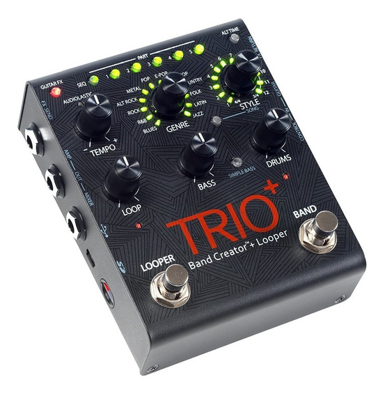 Pedal De Efeito Digitech Trio + Plus Band Creator Loop