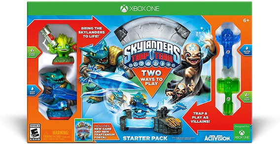 Kit Inicial Starter Pack Skylanders Trap Team Xbox One Caixa