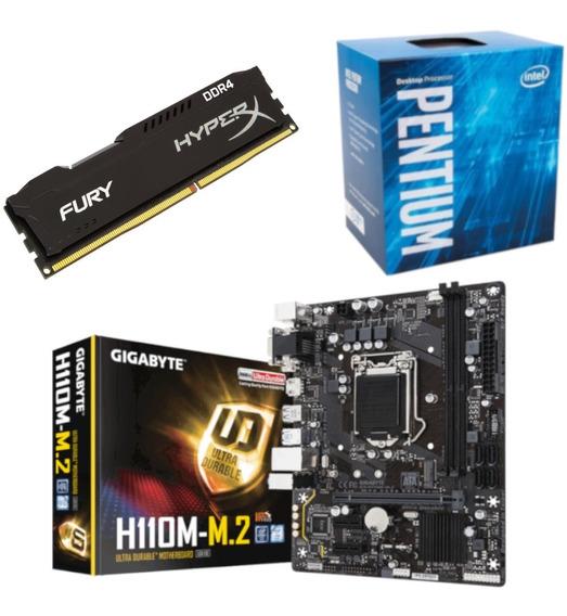 Kit Pentium G4560 + Gigabyte H110m M2 + Hx 8gb 2400