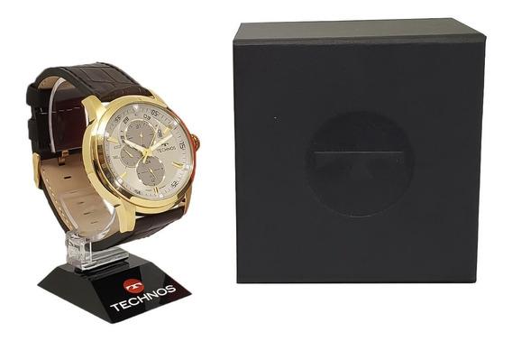 Relógio Masculino Technos 6p57ac/2c Pulseira De Couro