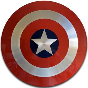 Escudo Capitão América 60 Cm Alumínio Tamanho Real Cosplay