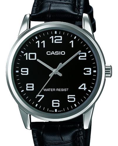 Relógio Casio Masculino Collection Couro  Mtp-v001l-1budf-br
