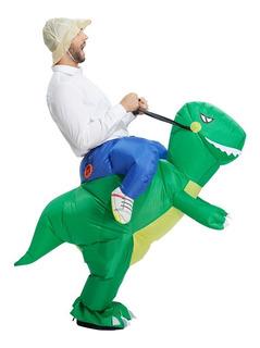 Fantasia Engraçada Inflável Dinossauro Adulto Festas Barata