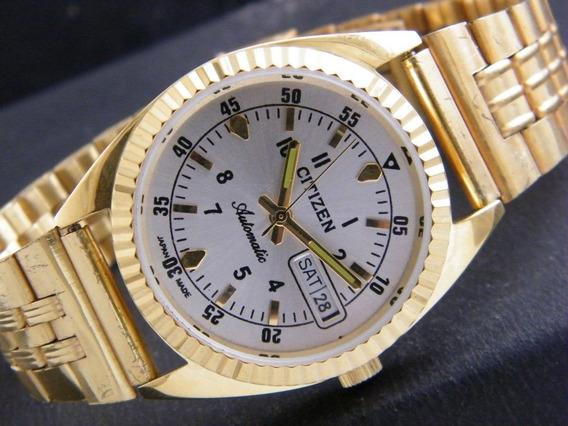 Reloj Vintage Pulsera Citizen Chapa De Oro Japónes Colección