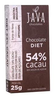 Chocolate Diet 54% Cacau Orgânico Sem Glúten/lactose/açúcar