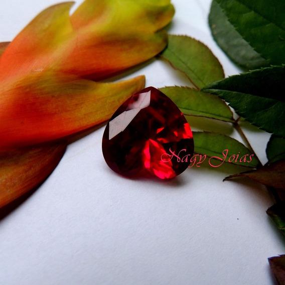 Majestoso Coração Em Rubi De Burma Vermelho Brasa Com 27 Cts