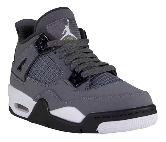 Tenis Air Jordan 4 Retro Gris