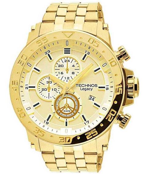 Relógio Technos Legacy Masculino Cronógraf Dourado Js15ao/4x