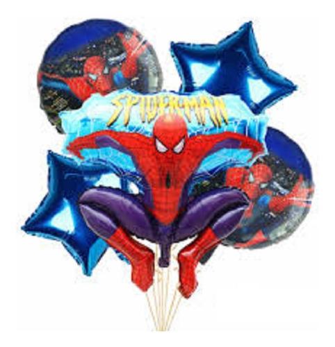 Set Globos Spiderman Hombre Araña X5