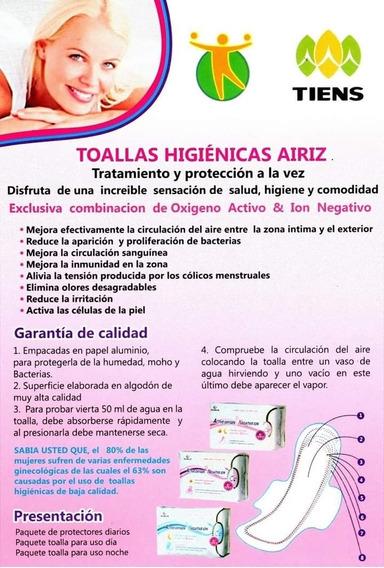 Toallas Higiénicas Con Anion Y Oxígeno Activo