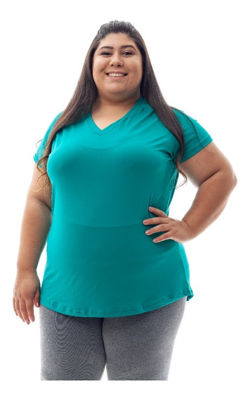 Kit 2 Blusas Plus Size Dry Fit 100%poliamida Corrida Fitness