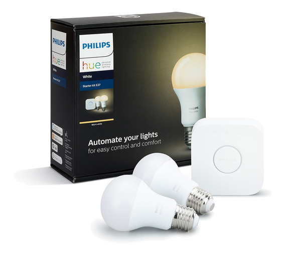 Kit De Inicio Philips Hue Bridge + 2 Ampolletas 9.5w Calido