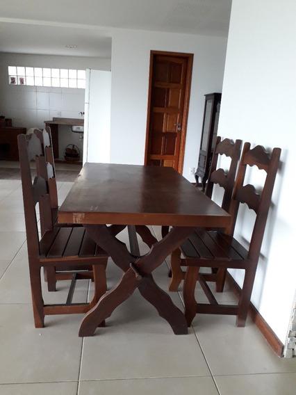 Mesa 4 Cadeiras E Armário De Sala De Jantar Retirar No Local