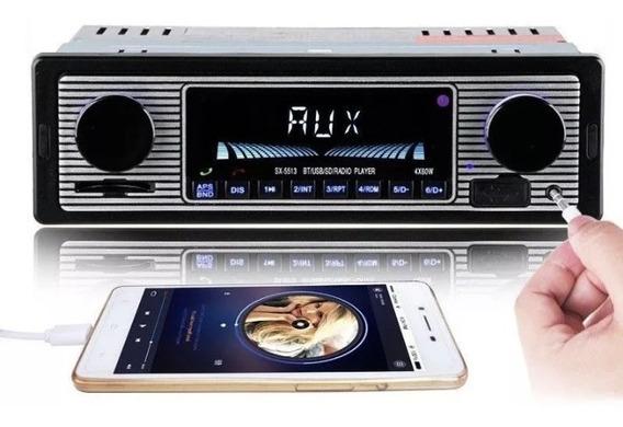 Radio Vintage Retro Usb Bluetooth Carro Antigo Fusca Opala Passat (não É Motoradio, Tkr)
