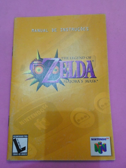 Manual Original Do Jogo Zelda Majora
