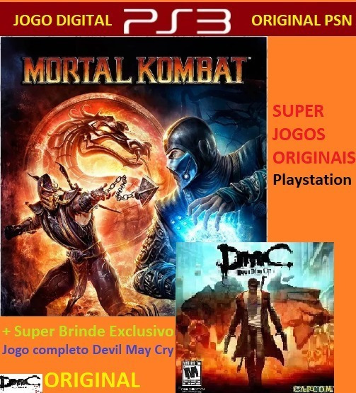 Mortal Kombat +brinde Dmc Devil May Cry Original Digital Psn