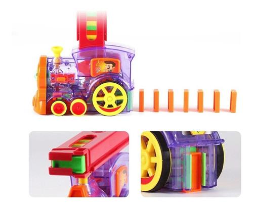 Tren Dominó Automático Juguete Para Niños Y Niñas