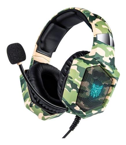 Auriculares Microfono Pc Gamer Notebook Chic K8 Camuflado