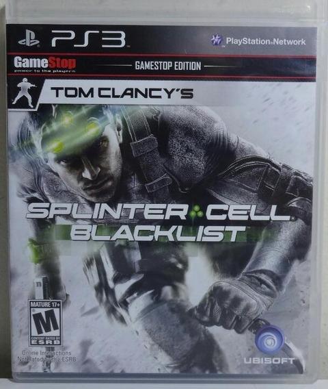 Jogo De Ps3 Splinter Cell Blacklist Em Mídia Física