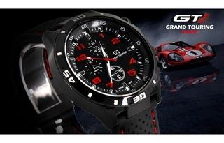 Relógio Esportivo Masculino Gt 54 Grand Touring Cor Vermelha