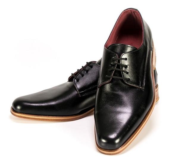 Hogh Zapatos Hombre Cuero Zapato Vestir Negro Fiesta 35/45