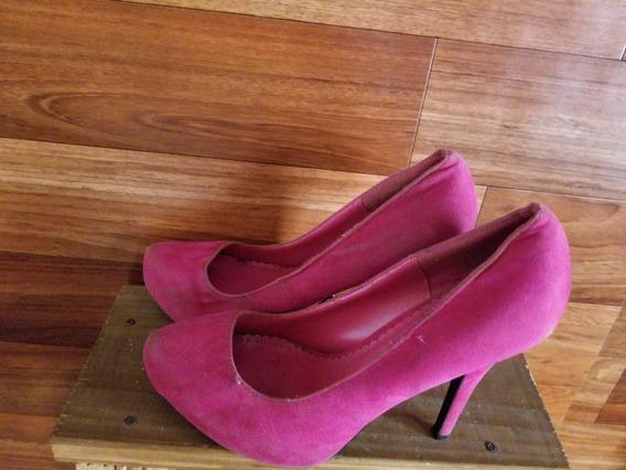 Stilettos Zapatos Fucsia - Nobuk - High Heels