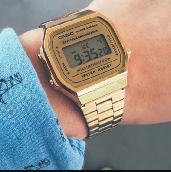 Relógio 1572 Retrô Dourado Vintage Frete Grátis