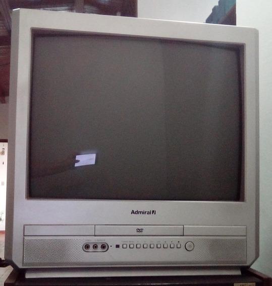 Remate Tv Admiral 21 Con Dvd Integrado Cd60