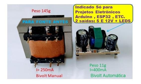 Mini Fonte, Arduino, Esp8266, Esp32, Ac Dc 5v Step Down