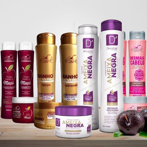 15 Produtos= Shampoo+ Condicionador+ Máscara Para Revenda!!