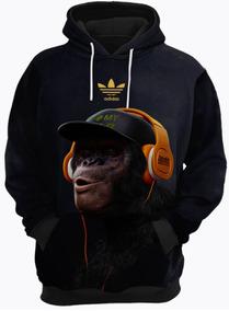 f3dca39321b Blusa De Frio Moletom adidas Macaco Música