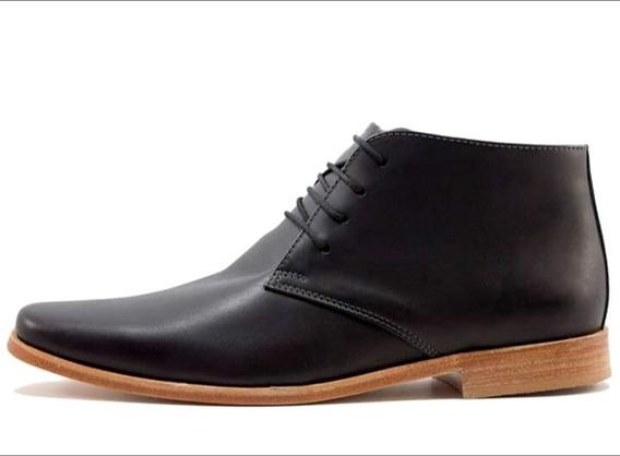 Zapato Botita De Hombre Simil Tascani De Cuero