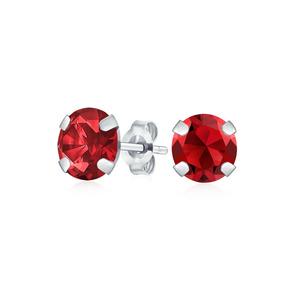 1.4ct Redondo Pedra Preciosa Granada Brincos Para As Mulhere