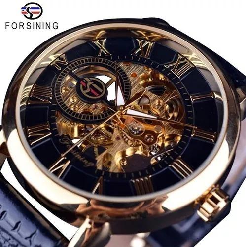 Relógios Masculino Importad Luxo Skeleton Mecanico Forsining