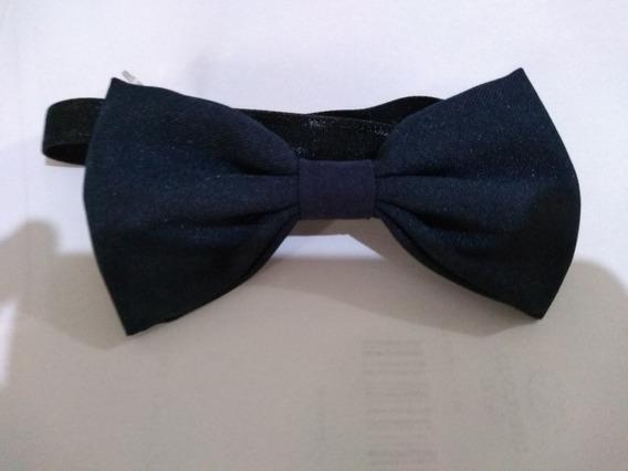 18 Gravatas Borboleta Azul Marinho Fosco