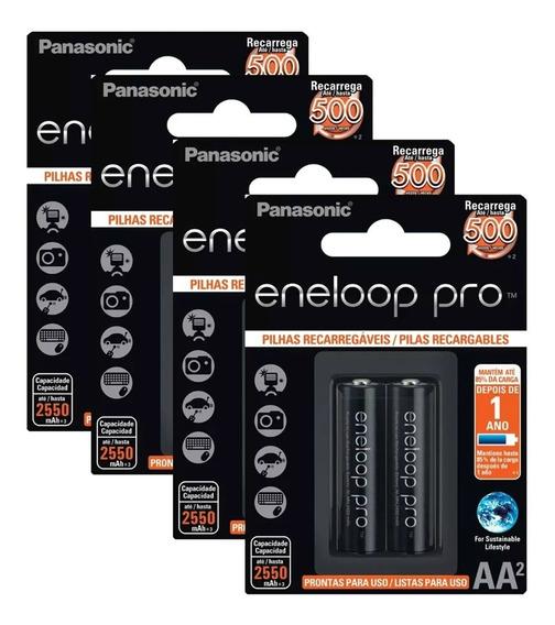 Pilha Recarrega Eneloop Pro Aa Pequen Kit 2 Cartela C/02 Un
