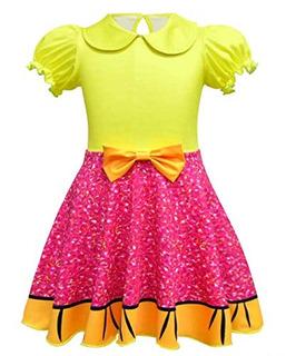 Amzbarley Girls Glitter Queen Costume Princess Cosplay Role