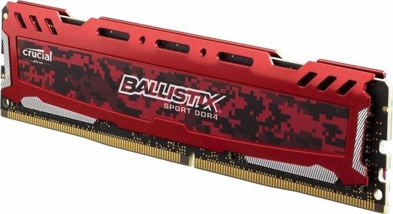 Memoria Ram Crucial Ballistix Sport Lt Red 2400mhz 8gb Ddr4