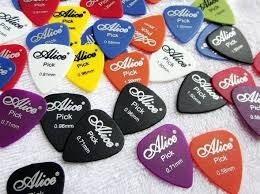 Kit 50 Palhetas Alice Violão E Guitarra Frete Grátis
