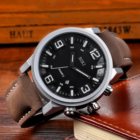 Relógio Soki Original Calendário Resistente A Água