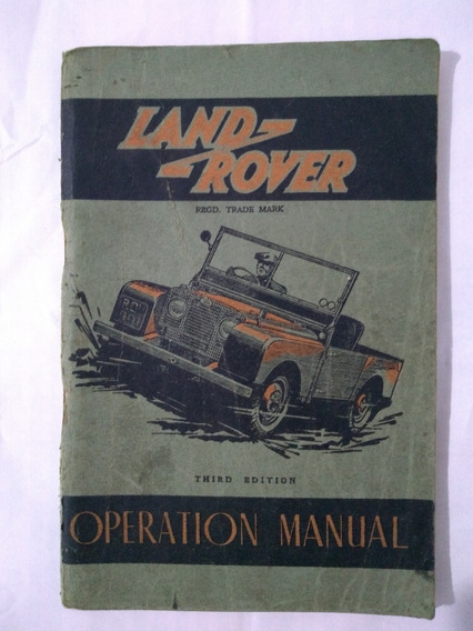 Manual Land Rover De 1951 Raro
