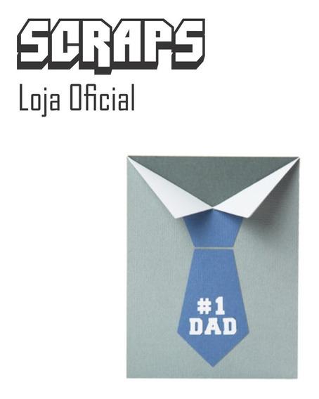 #0646 - Cartão Dia Pais Gravata Camisa - Arquivo Silhouette