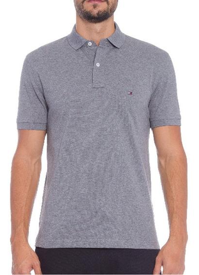 Camisa Polo Regular Fit Tommy Hilfiger Marinho - Original
