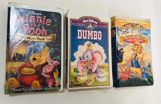 Fitas Antigas Vhs Disney Ursinho Pooh Dumbo The Secret