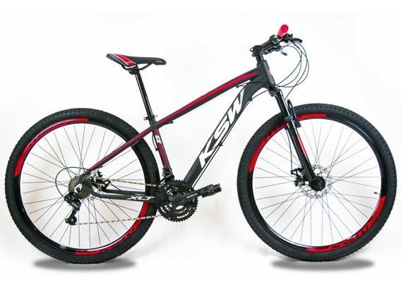 Bicicleta Ksw Xlt Aro 29 Freios Hidraulico 24v Câmbios Shima