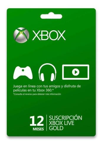 Xbox Gold 1-12 Meses Para Todos Los Paises.
