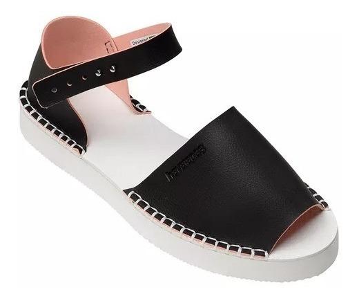 Alpargatas Havaianas Flatform Fashion Original Preto
